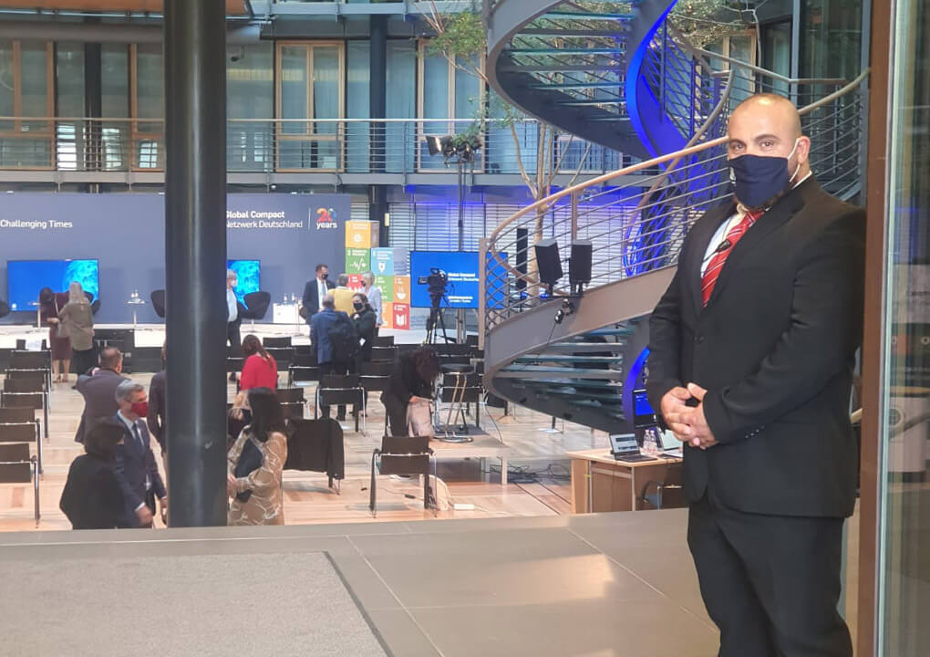 BPS Security - Veranstaltungsschutz: Wachmann bei internationalem Meeting